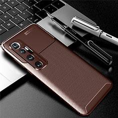 Funda Silicona Carcasa Goma Twill para Xiaomi Mi 10 Ultra Marron