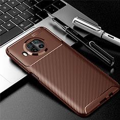 Funda Silicona Carcasa Goma Twill para Xiaomi Mi 10i 5G Marron