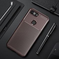 Funda Silicona Carcasa Goma Twill para Xiaomi Mi 8 Lite Marron