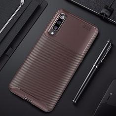 Funda Silicona Carcasa Goma Twill para Xiaomi Mi 9 Pro Marron