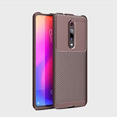 Funda Silicona Carcasa Goma Twill para Xiaomi Mi 9T Marron