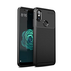 Funda Silicona Carcasa Goma Twill para Xiaomi Mi A2 Negro