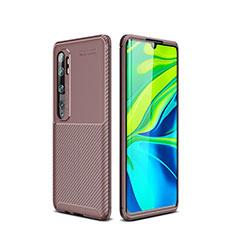 Funda Silicona Carcasa Goma Twill para Xiaomi Mi Note 10 Pro Marron