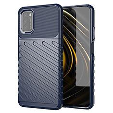 Funda Silicona Carcasa Goma Twill para Xiaomi Poco M3 Azul