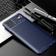 Funda Silicona Carcasa Goma Twill S01 para LG K92 5G Azul