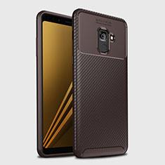 Funda Silicona Carcasa Goma Twill S01 para Samsung Galaxy A8+ A8 Plus (2018) Duos A730F Marron