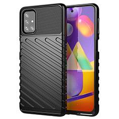 Funda Silicona Carcasa Goma Twill S01 para Samsung Galaxy M31s Negro