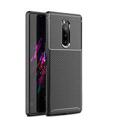Funda Silicona Carcasa Goma Twill S01 para Sony Xperia 1 Negro