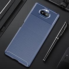 Funda Silicona Carcasa Goma Twill S01 para Sony Xperia 8 Lite Azul