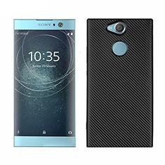 Funda Silicona Carcasa Goma Twill S01 para Sony Xperia XA2 Plus Negro