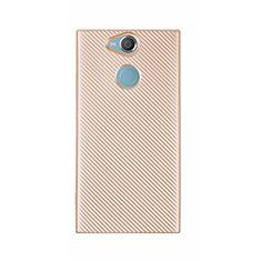 Funda Silicona Carcasa Goma Twill S01 para Sony Xperia XA2 Ultra Oro
