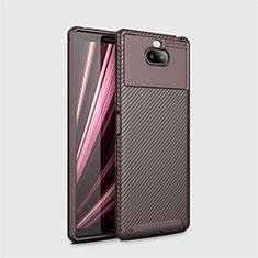 Funda Silicona Carcasa Goma Twill S01 para Sony Xperia XA3 Marron