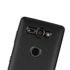 Funda Silicona Carcasa Goma Twill S01 para Sony Xperia XZ2 Compact Negro