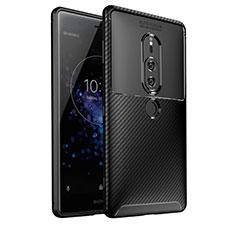 Funda Silicona Carcasa Goma Twill S01 para Sony Xperia XZ2 Premium Negro