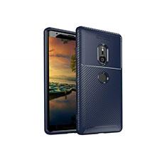 Funda Silicona Carcasa Goma Twill S01 para Sony Xperia XZ3 Azul