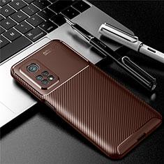 Funda Silicona Carcasa Goma Twill S01 para Xiaomi Mi 10T 5G Marron