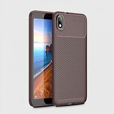 Funda Silicona Carcasa Goma Twill S01 para Xiaomi Redmi 7A Marron