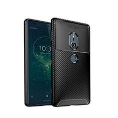 Funda Silicona Carcasa Goma Twill S02 para Sony Xperia XZ2 Negro
