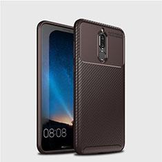 Funda Silicona Carcasa Goma Twill S03 para Huawei Mate 10 Lite Marron