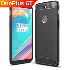 Funda Silicona Carcasa Goma Twill T01 para OnePlus 5T A5010 Negro
