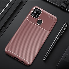 Funda Silicona Carcasa Goma Twill T01 para Samsung Galaxy M21s Marron