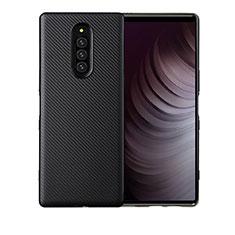 Funda Silicona Carcasa Goma Twill T01 para Sony Xperia 1 Negro