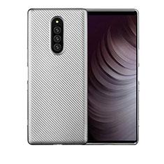 Funda Silicona Carcasa Goma Twill T01 para Sony Xperia 1 Plata