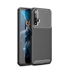Funda Silicona Carcasa Goma Twill Y01 para Huawei Honor 20 Negro
