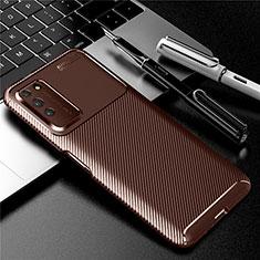 Funda Silicona Carcasa Goma Twill Y01 para Huawei Honor X10 5G Marron