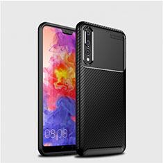 Funda Silicona Carcasa Goma Twill Y01 para Huawei P20 Pro Negro