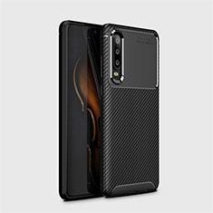 Funda Silicona Carcasa Goma Twill Y01 para Huawei P30 Negro
