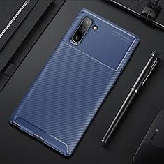 Funda Silicona Carcasa Goma Twill Y01 para Samsung Galaxy Note 10 5G Azul