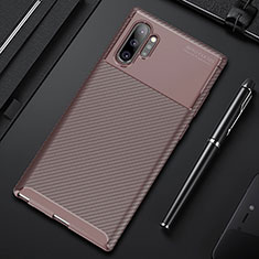 Funda Silicona Carcasa Goma Twill Y01 para Samsung Galaxy Note 10 Plus 5G Marron