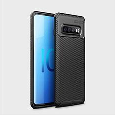 Funda Silicona Carcasa Goma Twill Y01 para Samsung Galaxy S10 Plus Negro