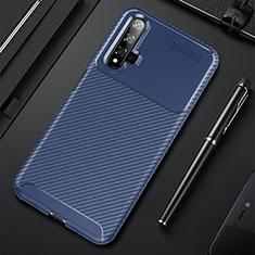 Funda Silicona Carcasa Goma Twill Y02 para Huawei Nova 5T Azul