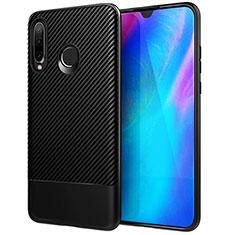 Funda Silicona Carcasa Goma Twill Y02 para Huawei P30 Lite Negro