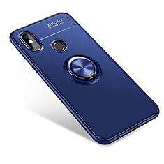Funda Silicona Carcasa Ultrafina Goma con Anillo de dedo Soporte para Xiaomi Mi A2 Azul