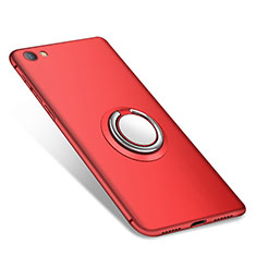 Funda Silicona Carcasa Ultrafina Goma con Anillo de dedo Soporte para Xiaomi Redmi Note 5A Standard Edition Rojo