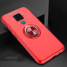 Funda Silicona Carcasa Ultrafina Goma con Magnetico Anillo de dedo Soporte A01 para Huawei Mate 30 Lite Rojo