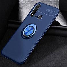 Funda Silicona Carcasa Ultrafina Goma con Magnetico Anillo de dedo Soporte A01 para Huawei Nova 5i Azul