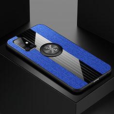 Funda Silicona Carcasa Ultrafina Goma con Magnetico Anillo de dedo Soporte A01 para Samsung Galaxy A51 5G Azul