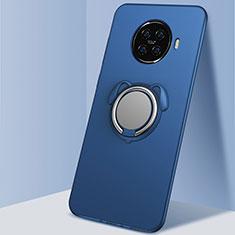 Funda Silicona Carcasa Ultrafina Goma con Magnetico Anillo de dedo Soporte A02 para Oppo Ace2 Azul