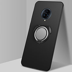 Funda Silicona Carcasa Ultrafina Goma con Magnetico Anillo de dedo Soporte A03 para Vivo Nex 3 Negro