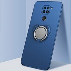 Funda Silicona Carcasa Ultrafina Goma con Magnetico Anillo de dedo Soporte G03 para Xiaomi Redmi 10X 4G Azul