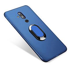 Funda Silicona Carcasa Ultrafina Goma con Magnetico Anillo de dedo Soporte para Huawei Mate 20 Lite Azul