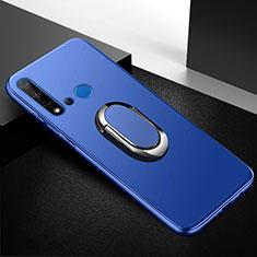 Funda Silicona Carcasa Ultrafina Goma con Magnetico Anillo de dedo Soporte para Huawei Nova 5i Azul