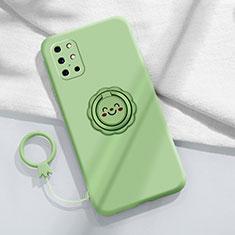 Funda Silicona Carcasa Ultrafina Goma con Magnetico Anillo de dedo Soporte para OnePlus 8T 5G Menta Verde