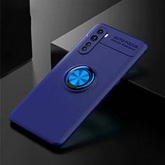 Funda Silicona Carcasa Ultrafina Goma con Magnetico Anillo de dedo Soporte para OnePlus Nord Azul