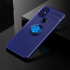 Funda Silicona Carcasa Ultrafina Goma con Magnetico Anillo de dedo Soporte para OnePlus Nord N10 5G Azul