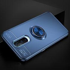 Funda Silicona Carcasa Ultrafina Goma con Magnetico Anillo de dedo Soporte para Oppo RX17 Pro Azul